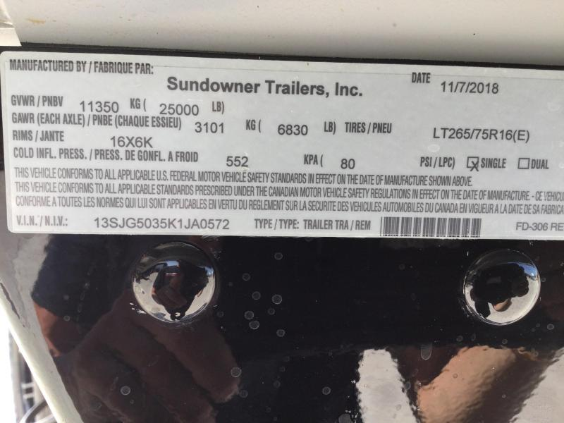2019 Sundowner 8.5X50 Toy Hauler W/Living Quarters
