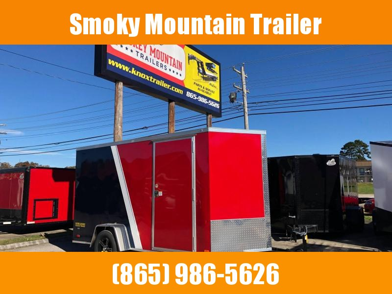 2021 Covered Wagon Trailers 6X12 SA RED/WHITE/BLUE Enclosed Cargo Trailer