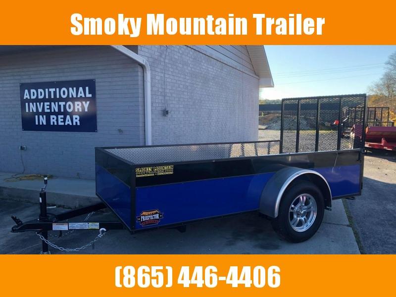 2021 Covered Wagon Trailers 5X10 SA BLUE/BLACK Utility Trailer