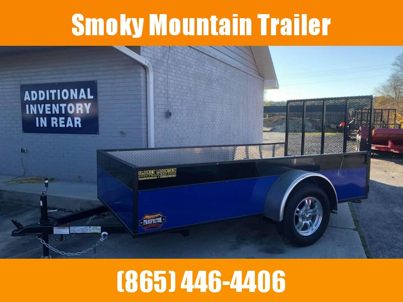 2021 Covered Wagon Trailers 5X10 SA BLUE/BLACK Utility Trailer
