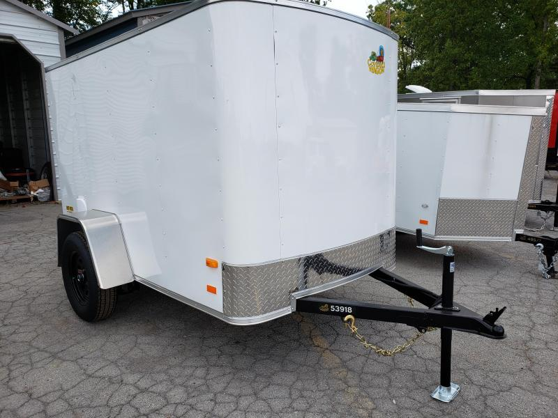 2020 Covered Wagon Trailers 5x8 Silver Package Enclosed Cargo Trailer