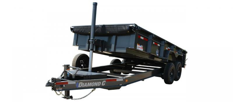 2021 Diamond C Trailers LPT207 16' Dump Trailer