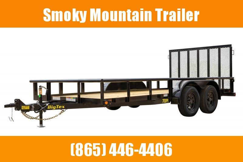 2021 Big Tex Trailers 70PI-20' Utility Trailer