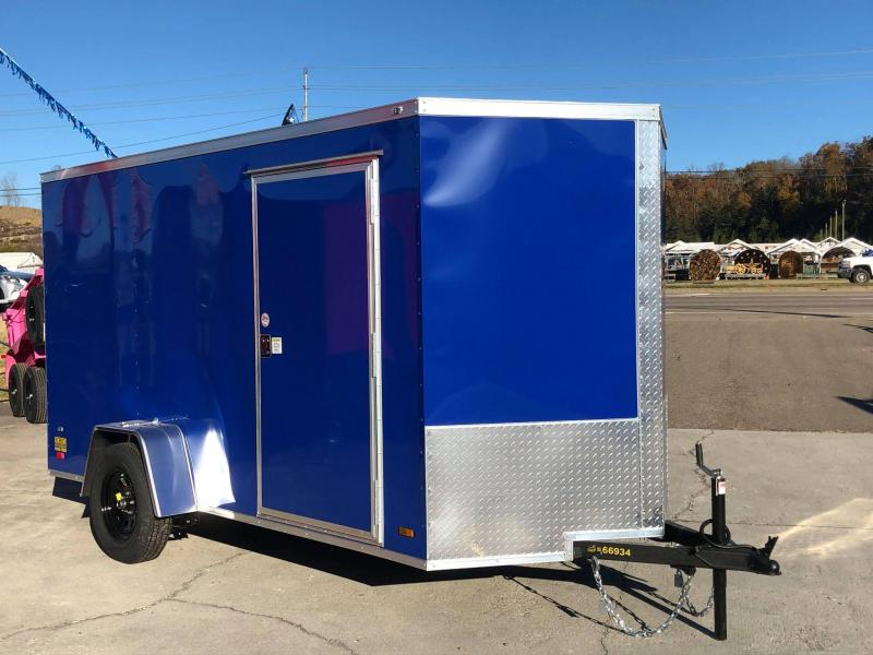 2021 Covered Wagon Trailers 6X12 SA BLUE Enclosed Cargo Trailer