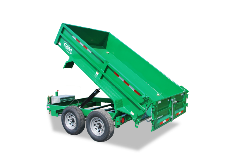 CAM 6x10 Low Profile Dump Trailer 12K w/ Ramps