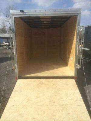 Black Out Pace 7x16 Journey SE V-Nose Cargo Trailer w/ Ramp door