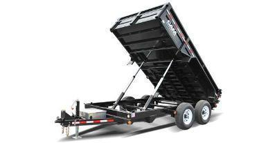 7x14 CAM Heavy Duty Low Profile Dump Trailer