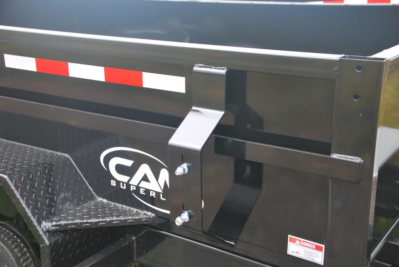 7x14 CAM Heavy Duty Low Profile Dump Trailer