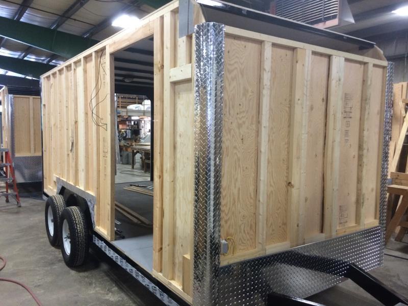 Car Mate 7x14 Advantage V Nose Cargo Trailer w/ Barn Door