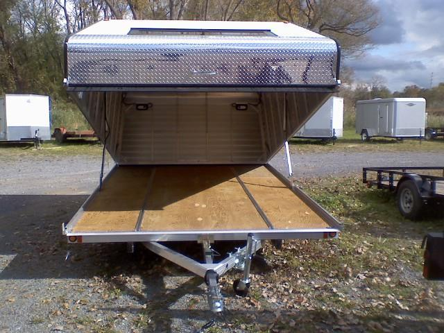 Blizzard 11 ft. Tilt Aluminum Clamshell Snowmobile Trailer