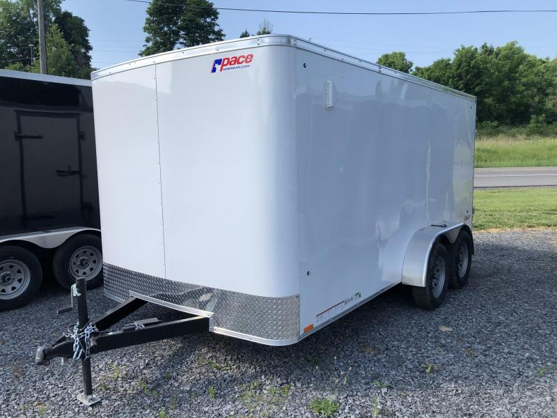 Pace Outback 7x12 Tandem Axle Enclosed Cargo Trailer w/ Barn Door