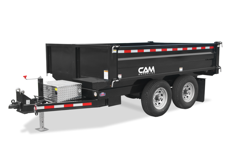 6x10 CAM Deck Over Dump Trailers 12K