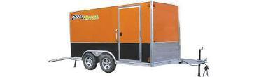 Blizzard Aluminum Motorcycle Enclosed Trailer
