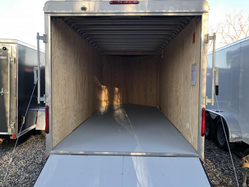 Car Mate 7x14 Advantage V Nose Cargo Trailer w/ Ramp Door