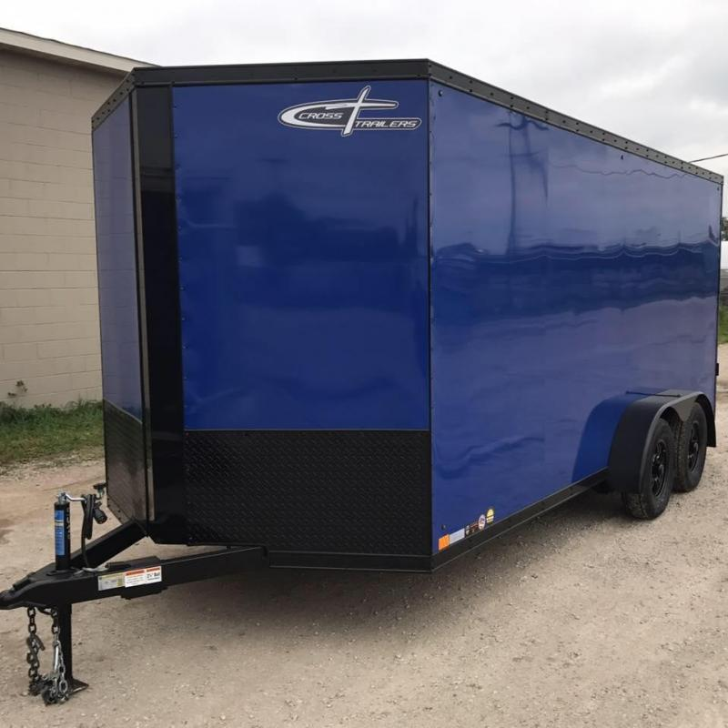 Black Out Cross 714TA Enclosed Cargo Trailer w/ Ramp Door
