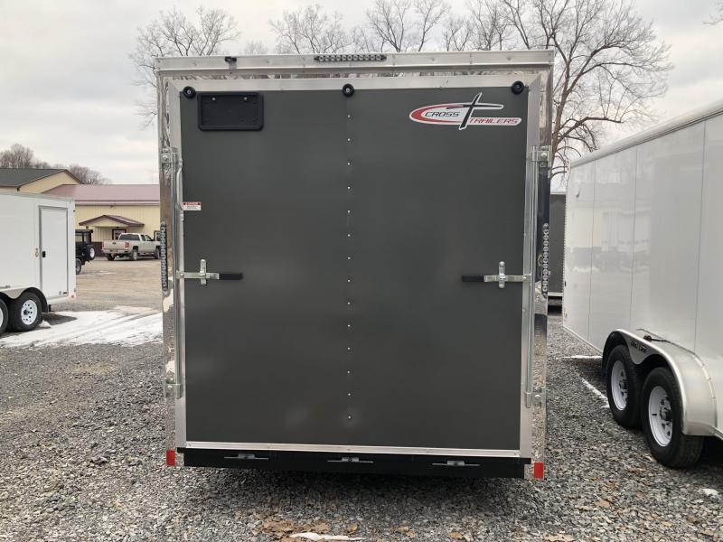 Cross 7x18 Enclosed Cargo Trailer w/ Ramp Door