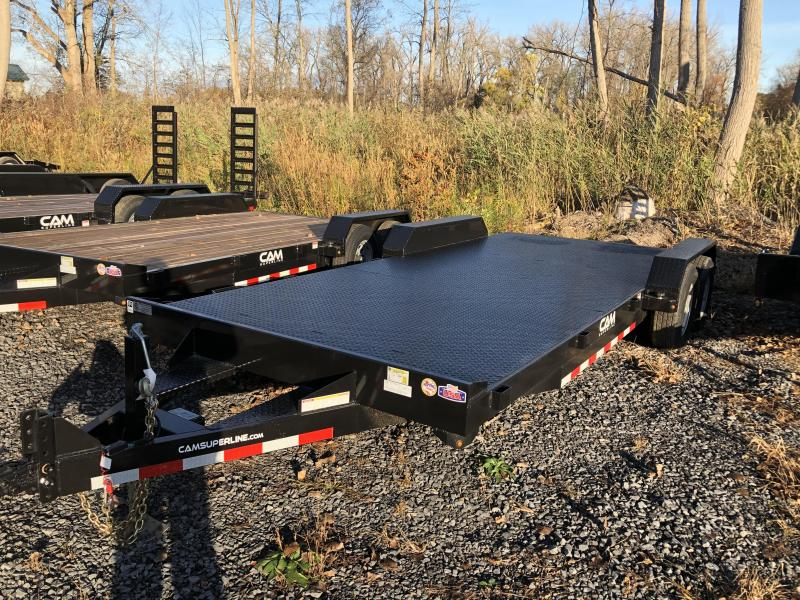 CAM Superline 7x18 Metal Deck 10K Car Hauler