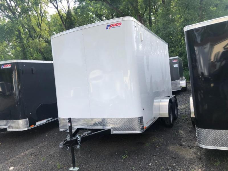 Pace Outback 7x12 Tandem Axle Enclosed Cargo Trailer w/ Ramp Door