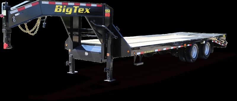 Big Tex 22GN 25' Flatdeck Gooseneck Trailer with 5' Mega Ramps on the Dove Tail