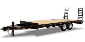 2020 Big Tex Trailers 14OA-17' Flat Deck with 3' Dove Tail Equipment Trailer