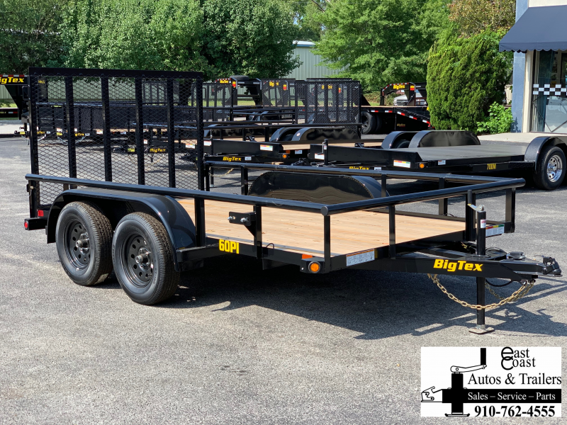 Big Tex Trailers 60PI (6.4' X 12') Tandem Axle Utility Trailer with 6K GVWR