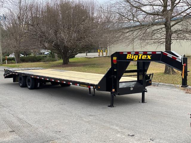 Big Tex Trailers 22GN 30' Flatdeck Gooseneck Trailer with 5' Mega Rampson the Dove Tail