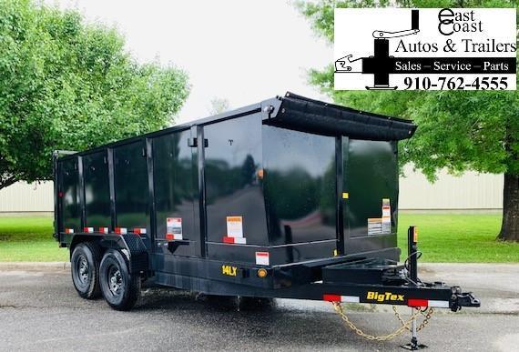 Big Tex Trailers 14LX (7' X 16') Dump Trailer WITH 4' High Sides
