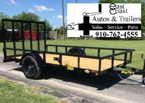 Big Tex 35SA (6.4' x 14') Utility Trailer with Pipe Top Rails