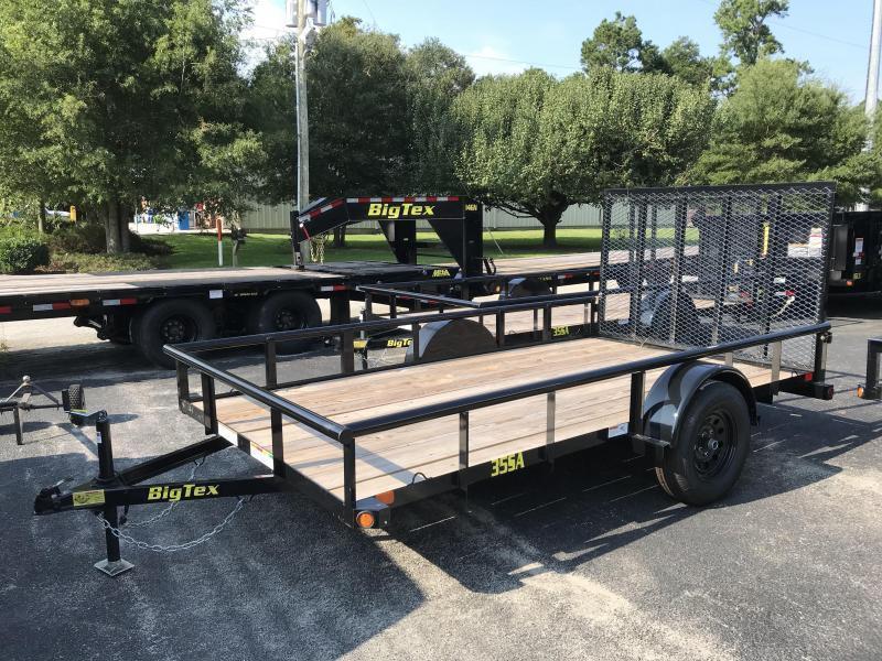 Big Tex 35SA (6.4' x 14') Utility Trailer with Pipe Top Rails