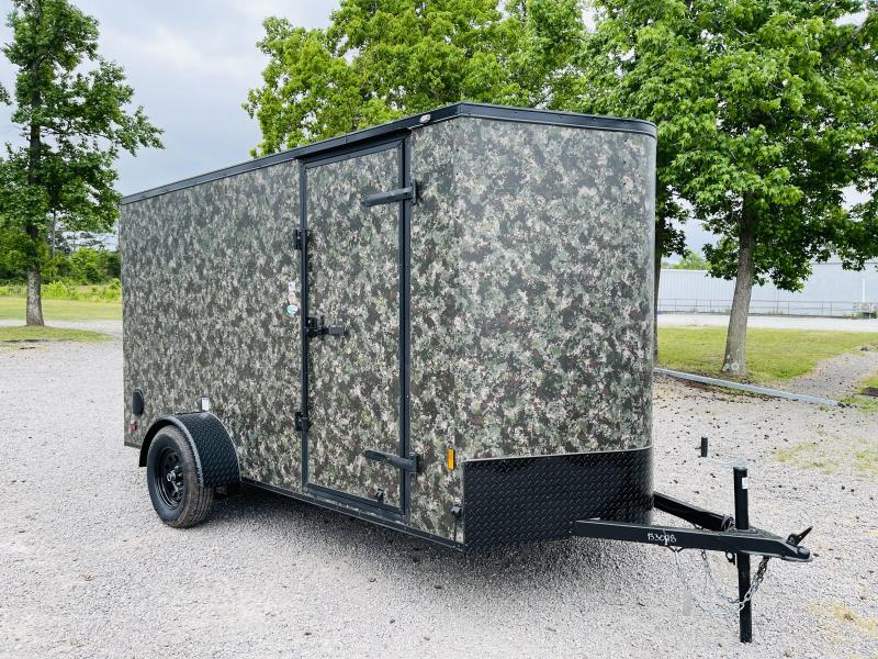 2022 Forest River 6X12 CAMO BLACKOUT Enclosed Cargo Trailer