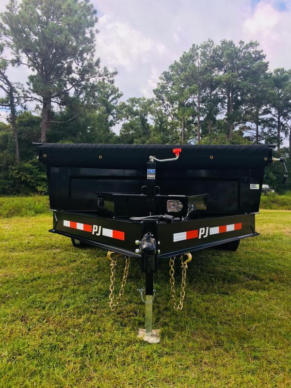 PJ Trailers DL162 (7' X 16') Low Pro Dump Trailer with 14K GVWR
