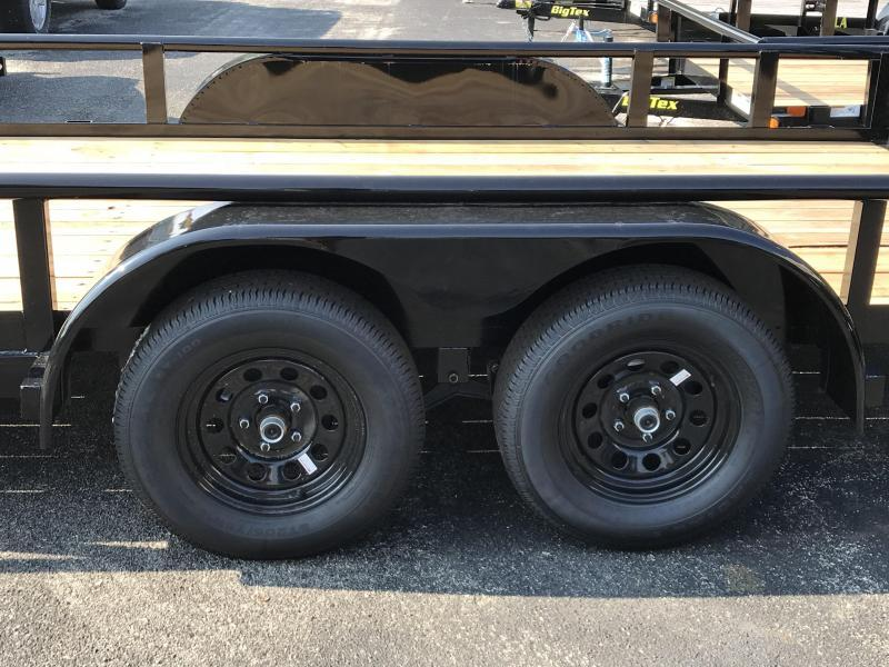 Big Tex Trailers 70PI (7' X 18') Tandem Axle  Utility Trailer with brakes on BOTH axles and 7K GVWR