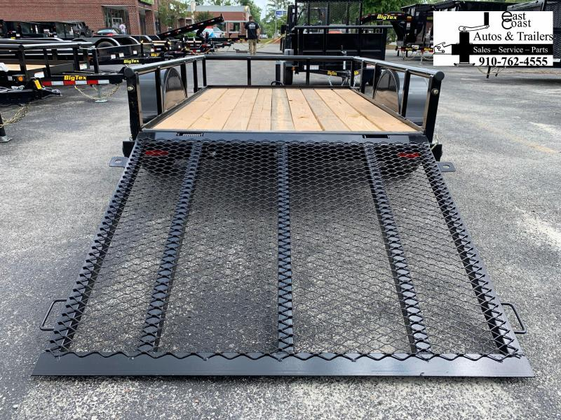 Big Tex Trailers 30SA (5' X 8') Utility Trailer with Pipe Top Rails