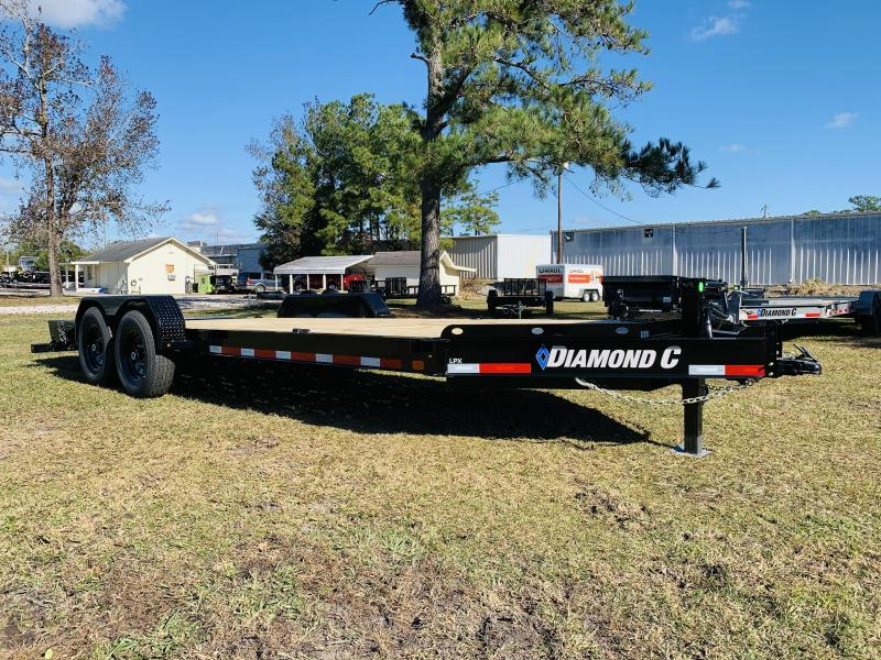 2021 Diamond C Trailers LPX207 20' Black Equipment Trailer