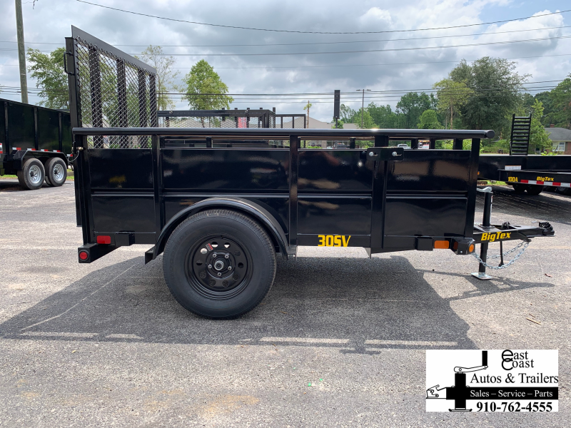 "Big Tex Trailers 30SV (5' X 10') Utility Trailer with 29"" metal walls"