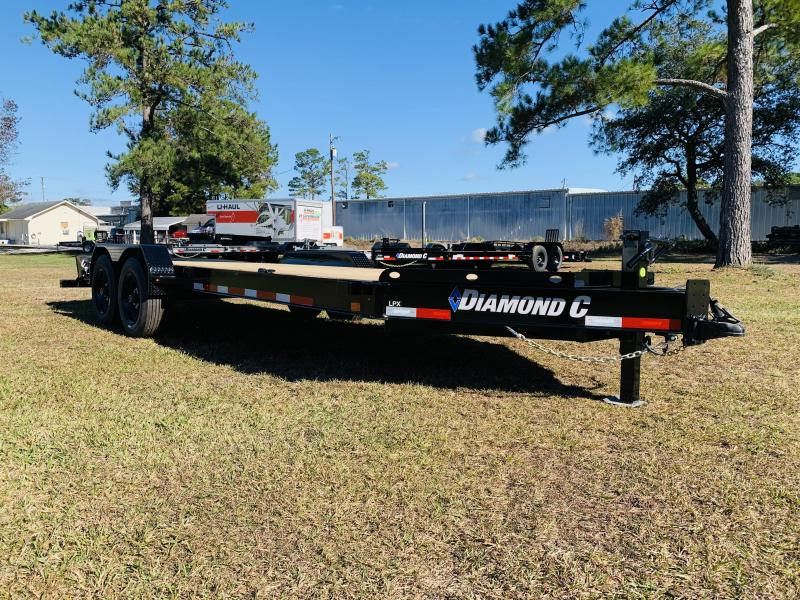 2021 Diamond C Trailers LPX208 20' Black Equipment Trailer