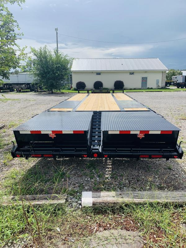 PJ Trailers PL252 (20' flat deck with 5' dove tail) Flatbed Trailer with 25K GVWR