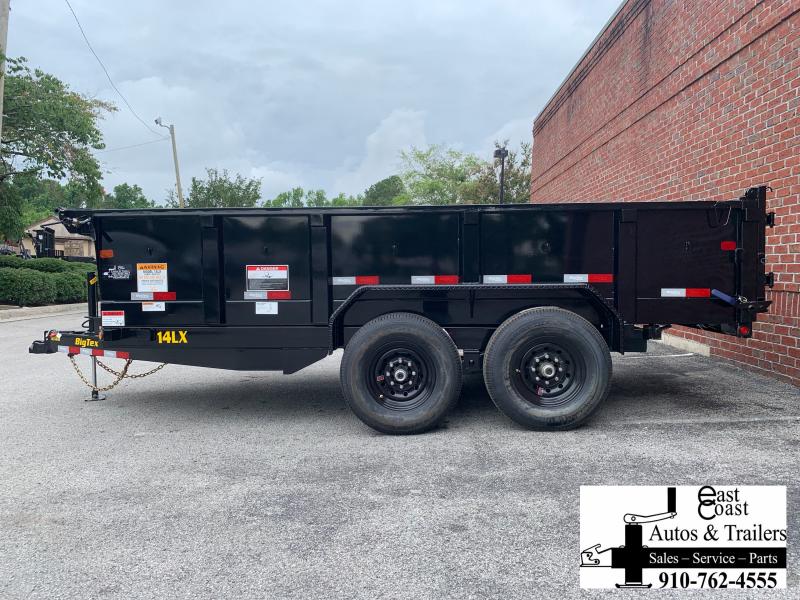 Big Tex 14LX (7' X 14') HD Dump Trailer with Hydraulic Front Jack
