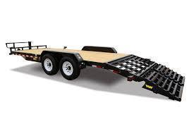 Big Tex 14ET - 24' Equipment Trailer with Mega Ramps and 14K GVWR