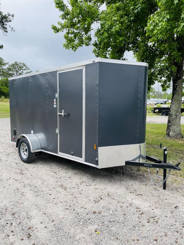 2022 Forest River 6X12 MATTE CHARCOAL Enclosed Cargo Trailer