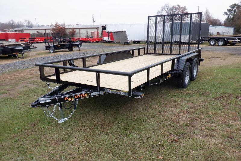 2021 Doolittle 84 x 16 Pipe Top Utility Trailer