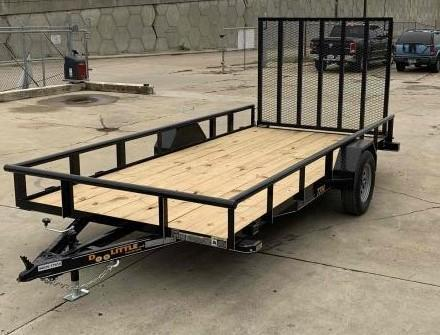 2021 Doolittle Trailer Mfg 77 X 14 Pipe Top Utility Trailer