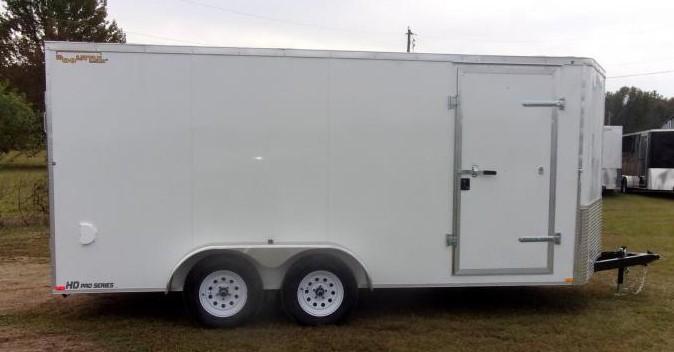 2021 Doolittle 7 x 16 Ramp Door Enclosed Cargo Trailer