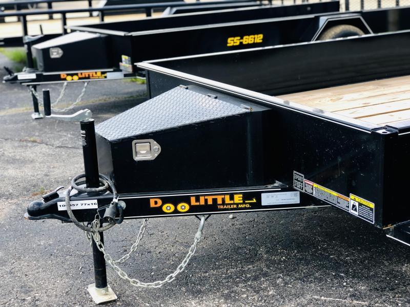 2022 Doolittle 77 x 16 SS Utility Trailer