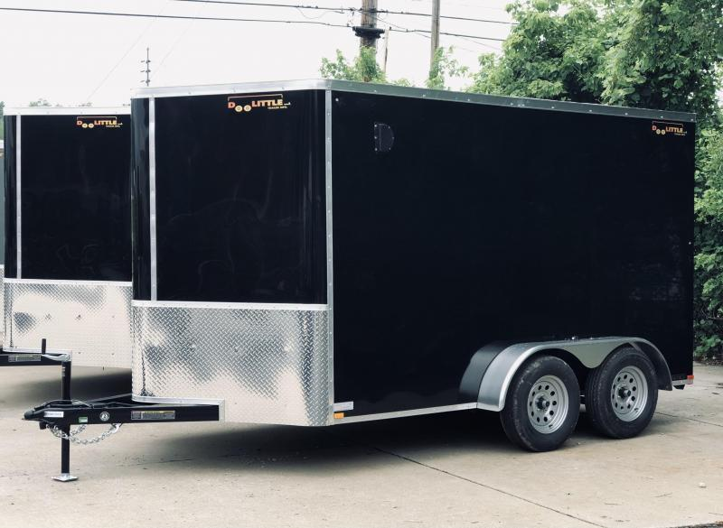 2022 Doolittle 7 X 12 Ramp Door Enclosed Cargo Trailer