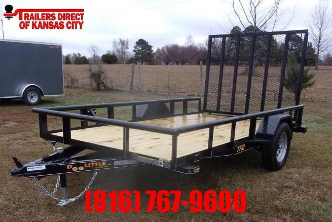 2021 Doolittle 77 x 12 Pipe Top Utility Trailer