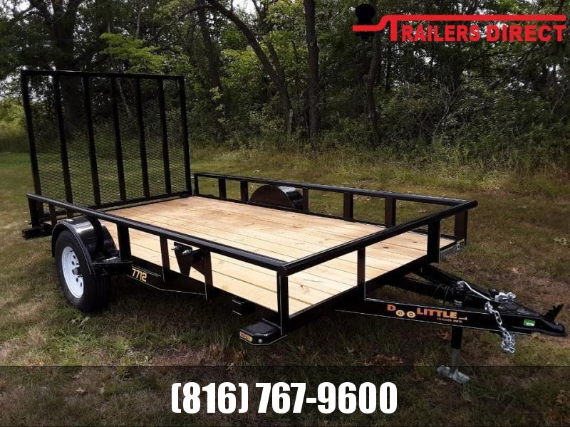 2020 Doolittle 77 x 12 Pipe Top Utility Trailer