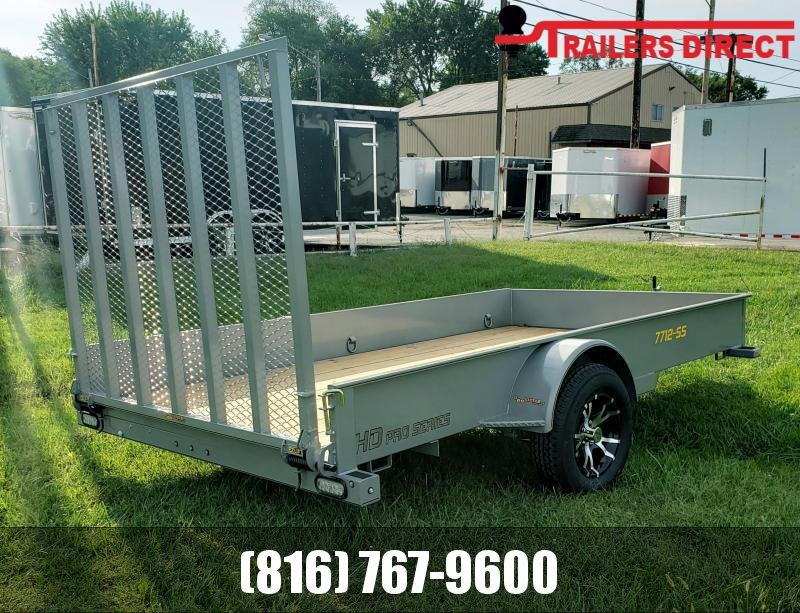2020 Doolittle Trailer Mfg 77 X 12 Metallic SIlver Utility Trailer