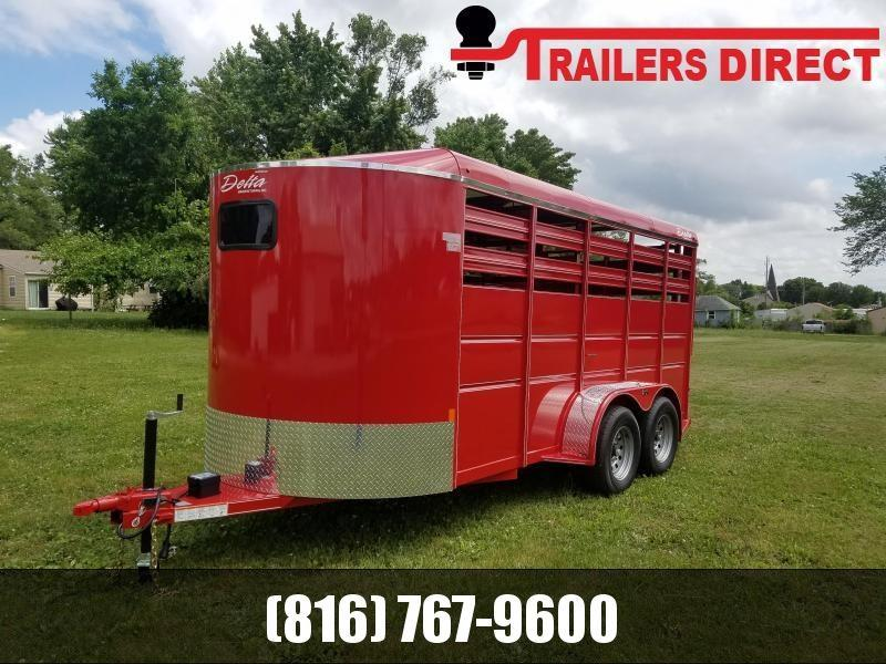2020 Delta 6 x 16 500 Livestock Trailer