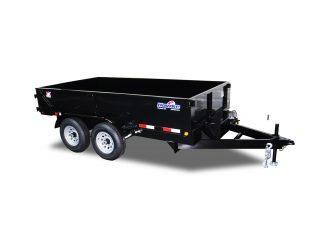 "2021 Hawke Trailers Cardinal 72"" X 12' 10K Low Profile Dump Trailer"